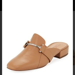 Halston Horsebit Tan Leather Mule Loafer